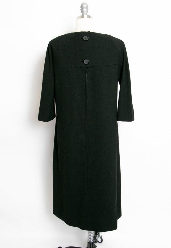 HARVEY BERIN 1960s Dress Black Wool Large - image 2