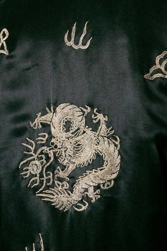 1950s Jacket Chinese Silk Embroidered Robe S - image 8