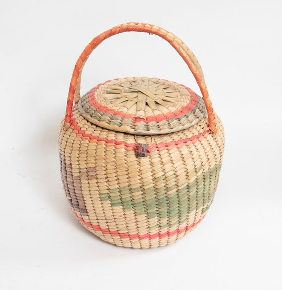 Basket Purse Mexican Rattan Woven Rabbit Market To