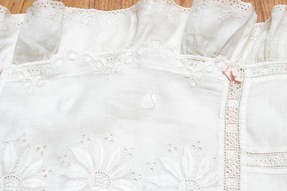 Victorian Antique Skirt Edwardian Cotton Embroide… - image 10
