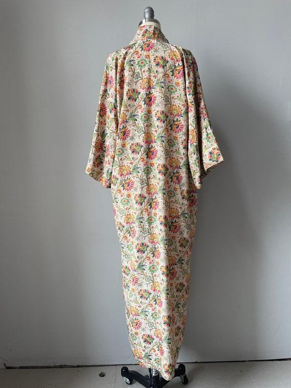 1940s Robe Rayon Paisley Loungewear S - image 2