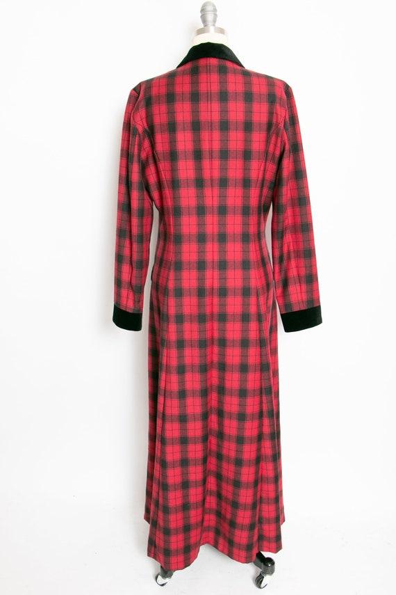 1990s Dress Laura Ashley Wool Shirtfront M - image 2