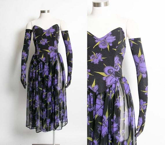 Vintage 1980s Betsey Johnson Punk Label Dress Glov