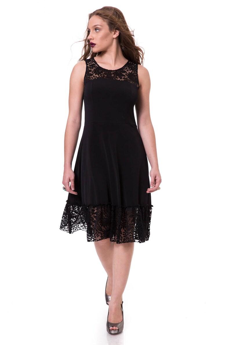 59ff2ac9b5 Black Lace Dress A Line Dress Sexy Evening Dresses Formal