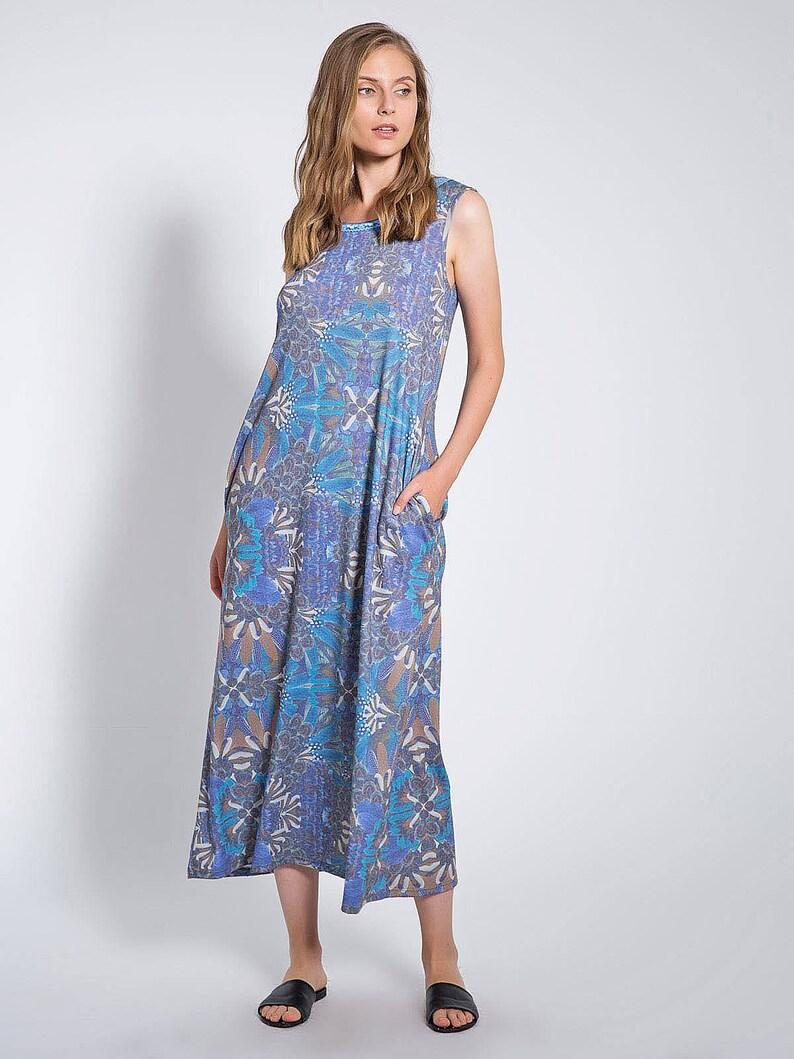 49a0db1afa0 Summer Loose Maxi Dress Oversized Purple Maxi Dress | Etsy
