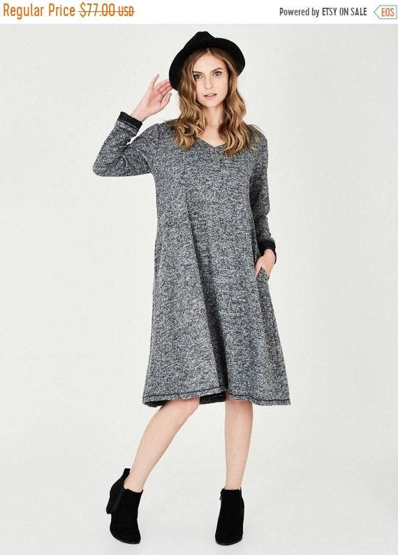 AUF Verkauf Kleider langen grauen Kleid Winter Casual   Etsy 5a9b9dc401