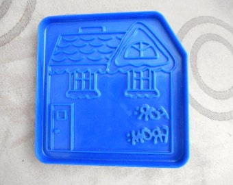 """Vintage DOMINO SUGAR ADVERTISING Gingerbread House Gift Tag Cookie Cutter 
