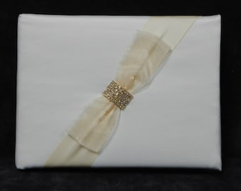 White Bridal Guest Book Price Slashed CLEARANCE ITEM