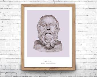 Socrates | Portrait of Socrates, Philosophy, Socrates Bust, Socrates Photo, Socrates Art Print, Modern Home Decor, Bust Art Print, Socrates