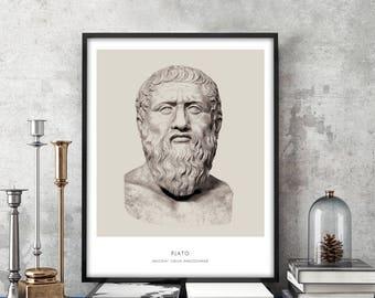 Plato | Portrait of Plato, Philosophy, Plato Bust, Plato Photo, Plato Art Print, Modern Home Decor, Bust Art Print, Plato Art Print, Plato