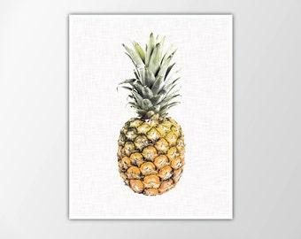 Pineapple Print, Pineapple Photo, Pineapple Art Print, Pineapple Photography, Tropical Print, Summer Decor, Minimalist Wall Art, Pineapple