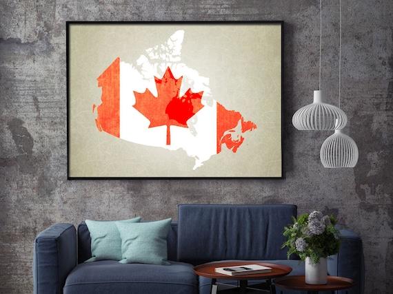 Canada Map Art Print Canada Map Print Canada Art Print Canadian Flag Canada Print Canada Map Canada Poster Canada Flag Print Canada