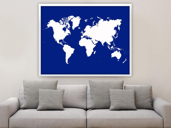 Color Your Own World Map.Giant World Map Poster World Map Poster Custom Color World Etsy
