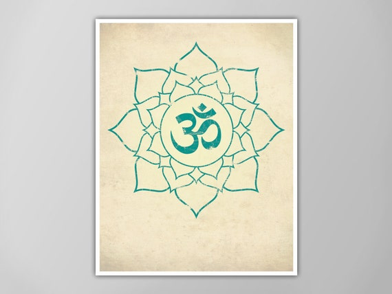 Om lotus print lotus art print yoga decor aum lotus flower etsy image 0 mightylinksfo
