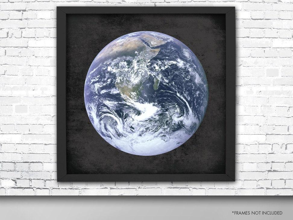 Riesige Erde Poster Planet Erde Kunstdruck quadratische   Etsy