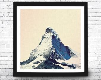 Matterhorn Art Print, Matterhorn Home Decor, Matterhorn Art Print, Matterhorn Wall Art, Matterhorn Poster, Mountain Art Print, Matterhorn