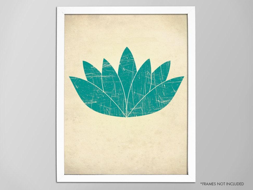 Lotus Flower Print Yoga-Kunstdruck Yoga Dekor   Etsy