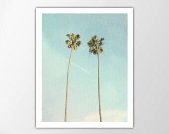Palm Trees Art Print, Palm Leaf, Coastal, Beach House Decor, Tropical Art Print, Coastal Wall Art, Summer Decor, Palm Trees Photo, Palm Tree