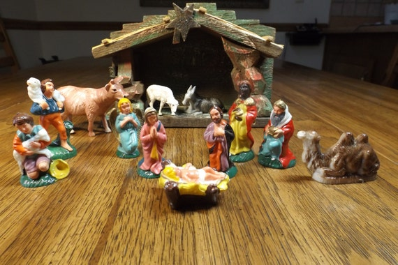 Christmas Nativity Scene Vintage Relgious Decor