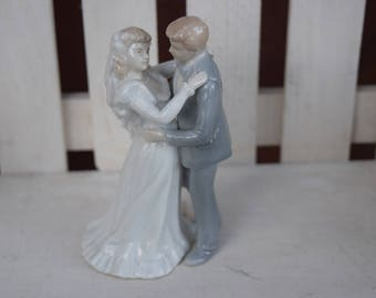 Vintage Cake Topper- First Kiss, cake topper, first dance cake topper