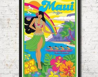 Maui poster, Maui wall art, Maui art print, Maui, Maui Wall decor, Hawaii art, Hawaii Wall decor, Home decor, Hawaii print, Hawaii poster