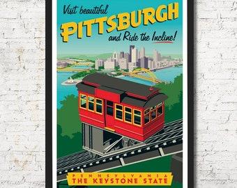 Pittsburgh poster, Pittsburgh wall art, Pittsburgh art print, Poster, Pittsburgh skyline, Pittsburgh art, Wall decor, Pittsburgh print, home