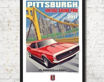 Pittsburgh poster, Pittsburgh wall art, Pittsburgh art print, Poster, Pittsburgh skyline, Pittsburgh art, Wall decor, Gift, Home decor