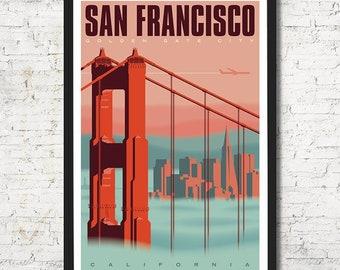 San Francisco poster, San Francisco print, San Francisco wall art, San Francisco art print, San Francisco, San Francisco art, Wall decor