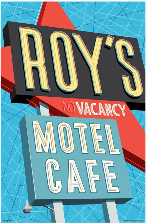 Roys Motel Cafe Route 66 Poster Route 66 Wall Art Etsy
