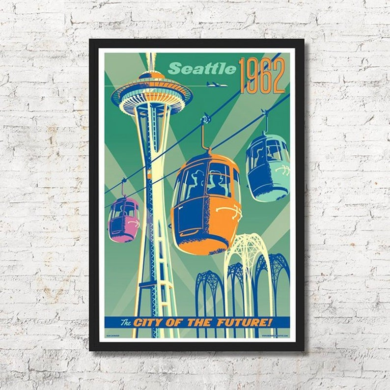 Seattle World's Fair Seattle poster Seattle wall art image 0