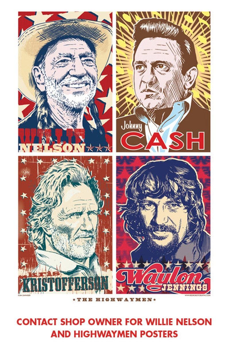 cc40dd64820a2 13 x 19 Waylon Jennings poster Waylon Jennings wall art