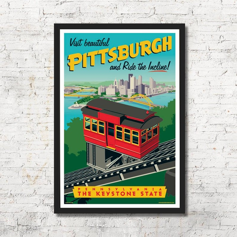 Pittsburgh poster Pittsburgh wall art Pittsburgh art print image 0