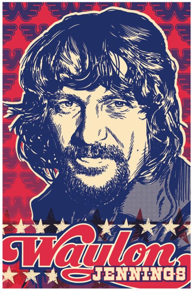 13 X 19 Waylon Jennings Poster Waylon Jennings Wall Art Etsy