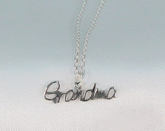 Grandma necklace, grandma gift, gift for grandma, grandmother necklace, sterling silver