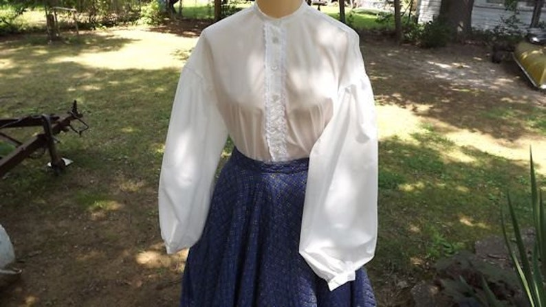 Victorian Blouses, Tops, Shirts, Sweaters Ladies Civil War Garibaldi Blouse Sizes 6 to 22 Muslin Blouse $49.00 AT vintagedancer.com