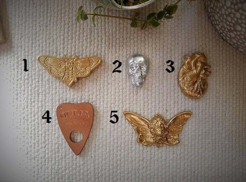 planchette magnets novilty gifts Magnet Sets Skull magnets Death head moth magnet alien magnets heart magnets gypsy magnets