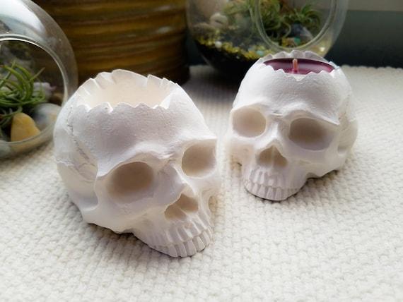 Skull Candle Holders Skull Bookends Dark Wedding Decor Halloween Skull Decorations Skull Decor Skull Wedding Decor Gothic Decor