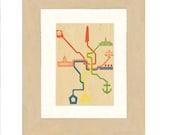 DC Metro Map Print