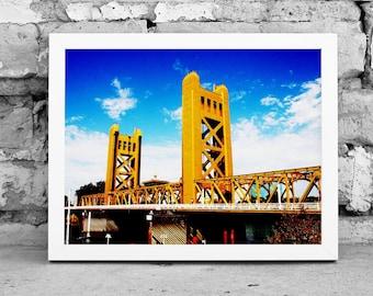 Tower Bridge Photograph - Sacramento Photography - Digital Photography - Photography Download - Digital Print - Architectural Photography