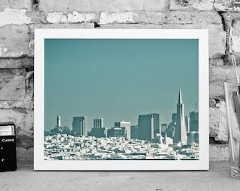 San Francisco Photography - California Photography - San Francisco Bay - Transamerica Building - Coit Tower - Digital Print
