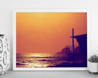 Ocean Photography - Beach Print - Beach House - Hwy 101 - California - Digital Photography - Photography Download - Digital Print