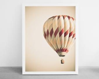 Hot Air Balloon Print -  Hot Air Balloon Photography - Nursery Decor - Balloon Festival - Photography Download