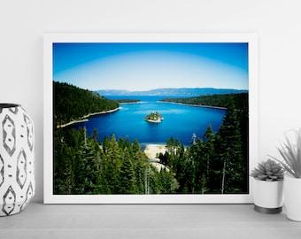 Lake Tahoe Print - Emerald Bay - California - Digital Photography - Photography Download - Digital Print - Architectural Photography