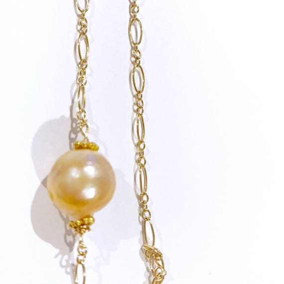 Peach Pearl Necklace: Kasumi Peach Pearl Gold Necklace Lilyb444 Gifts For Her