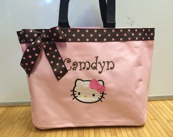 a135f5f8ff Personalized Girl Hello Kitty Tote Bag Baby Diaper Bag