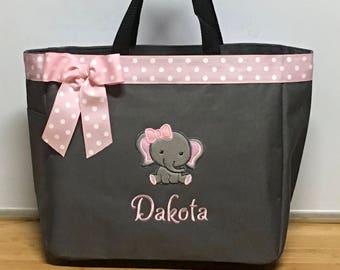 9a08e95931cb Elephant diaper bag | Etsy