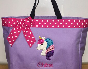 Personalized Unicorn Tote Bag Baby Diaper Bag