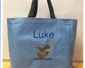 Personalized Shark Fish Tote Bag Baby Diaper Bag
