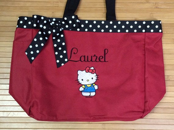 46b89c76bb Personalized Girl Hello Kitty Tote Bag Baby Diaper Bag