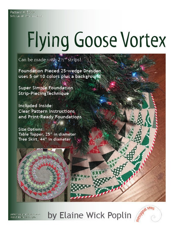 Flying Goose Vortex Quilt Pattern gedruckt